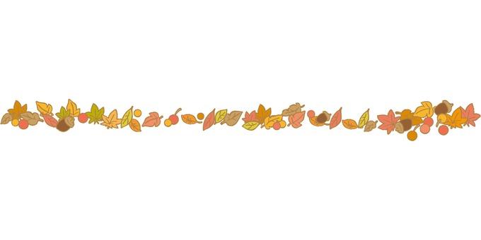 가을 잎과 열매의 라인