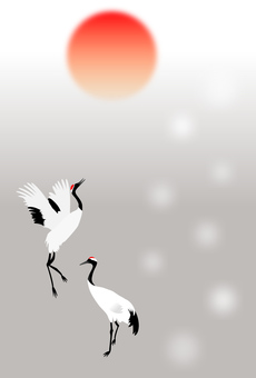 New year's card crane