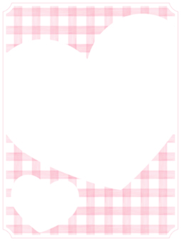 Check and Heart Frame 1 Pink