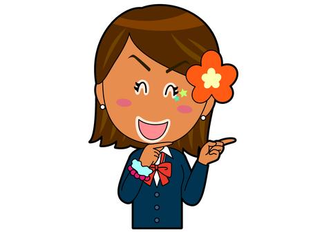 Pointing _ Kogal High School Girl A_031