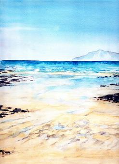 Sea watercolor