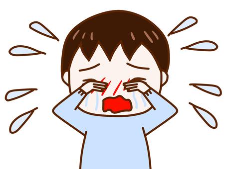 大泣きする少年2