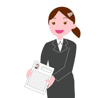 Female job applicants who submit a resume