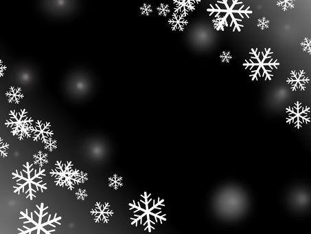 눈송이 검정 배경 겨울