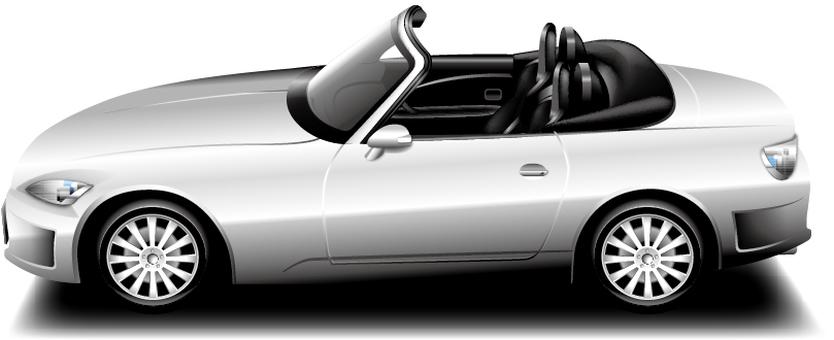 Open car (silver)