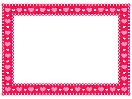 Heart pattern lace frame 3