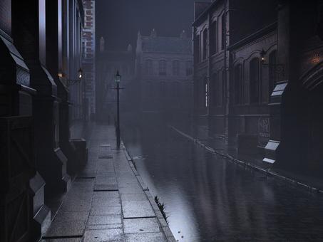 ロンドンの霧の夜