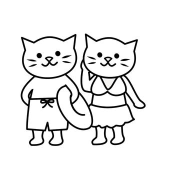 Swimsuit cat