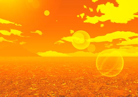 日落背景例證材料海景