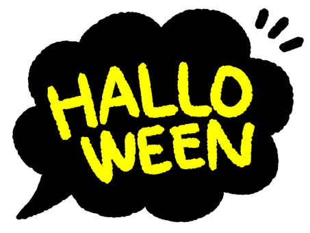 Speech bubble halloween black