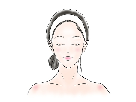 Close-up woman image after makeup washing