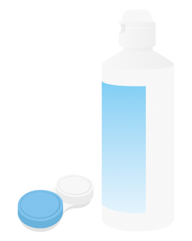 Contact lens cleaning solution / case