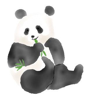 水彩パンダ