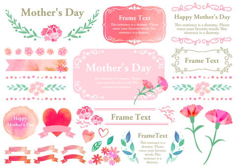 Seasonal event material 001 Mother's Day set