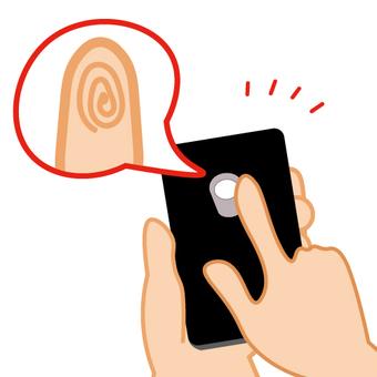 Image of smartphone fingerprint authentication