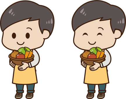 Male with vegetables 02