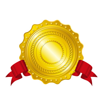 Gold medal ribbon included