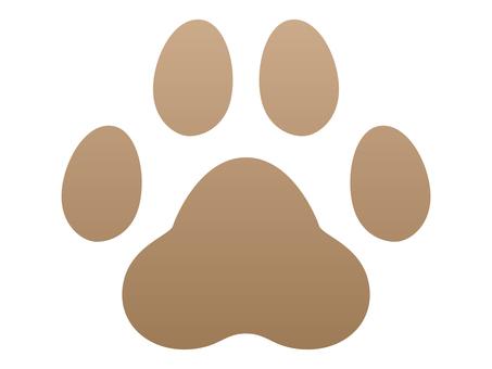犬の足跡 ブラウン