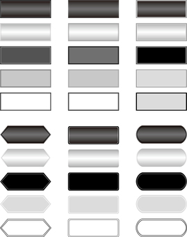 Horizontal title frame monochrome series 5