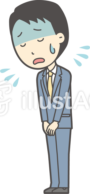 スーツ男性ネイビー-344-全身のイラスト