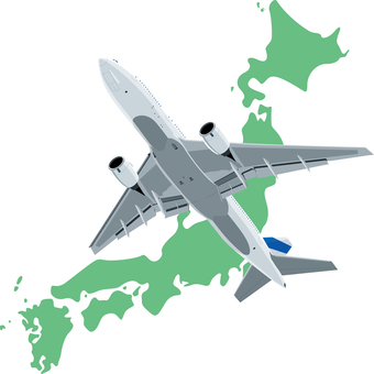 Airplane Japan Map Domestic flight
