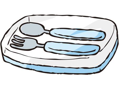 勺子/叉子套裝(藍色)
