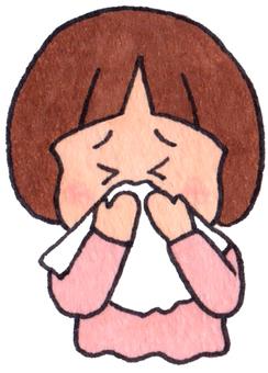 Children who bite their nose (girls)