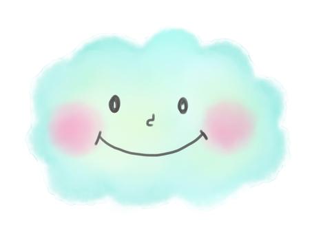 Watercolor cloud