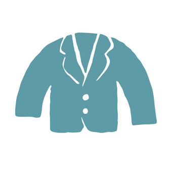 Illustration of suits in print style icon series