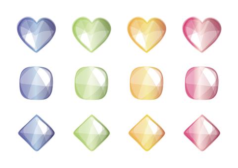 Glitter [Heart Square Diamond]