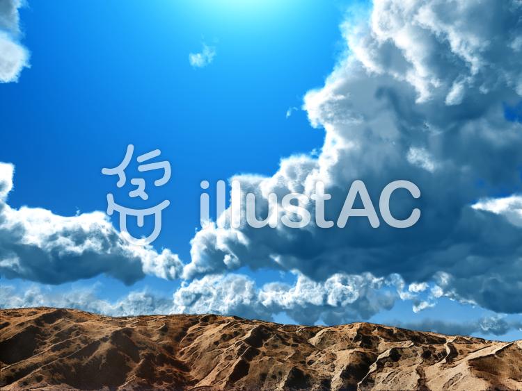 青い空の背景のイラスト