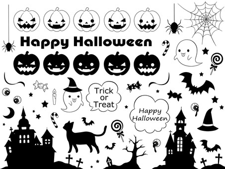 Halloween monochrome