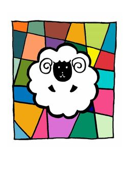 Sheep's New Year's card