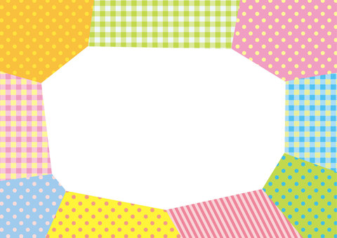Pop pattern masking tape-like frame