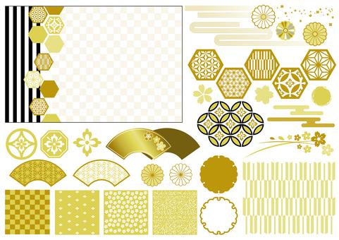 Material de patrón japonés