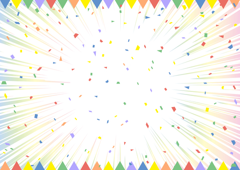 Confetti Concentrated Line Flag Frame