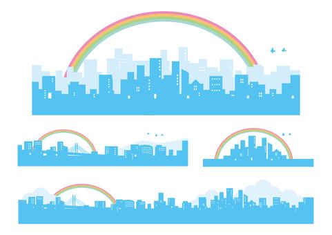 Townscape Set Building Group Rainbow