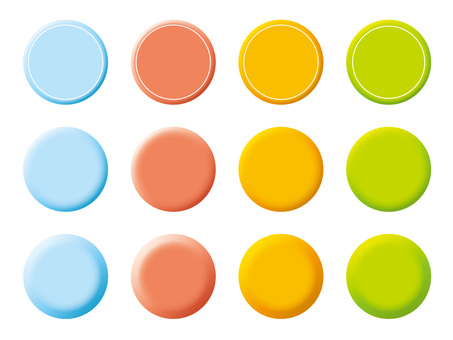 Stereoscopic style button icon (4)