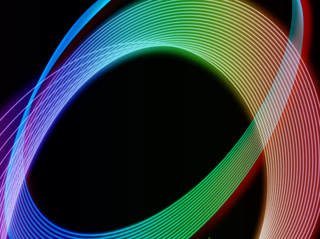 Black background rainbow color wave