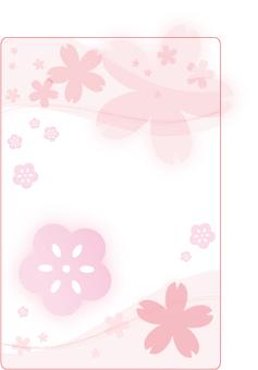 Plum cherry tree decorative frame