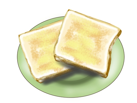Bread toast (two pieces)