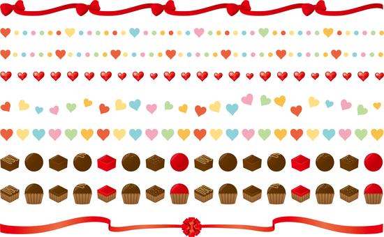 Valentine ruled line