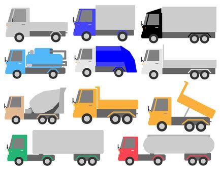 Working car (truck) material set 1