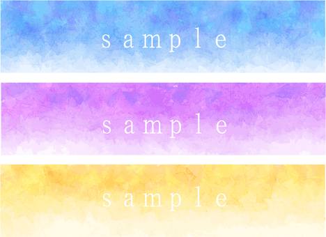 Watercolor banner 2