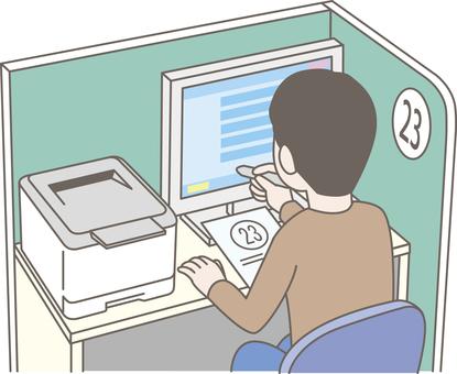 求人検索機を利用する求職者