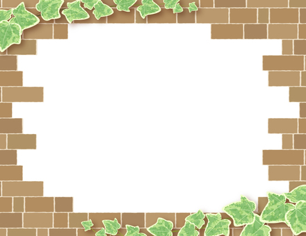 Ivy and brick frame