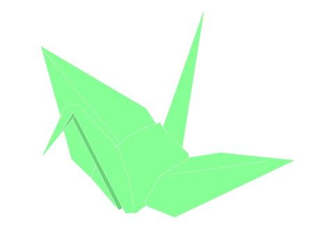 Folding crane green