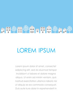 Illustrations of streets with text space