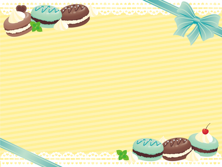 Macaron girly frame * chocolate mint