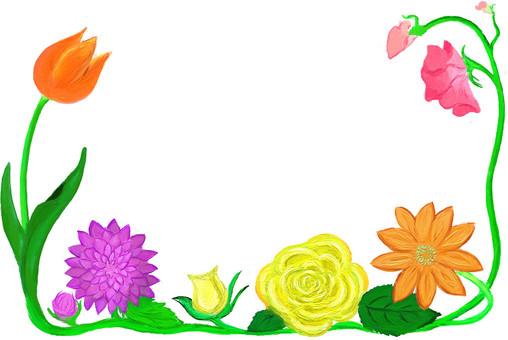 봄빛의 꽃 프레임